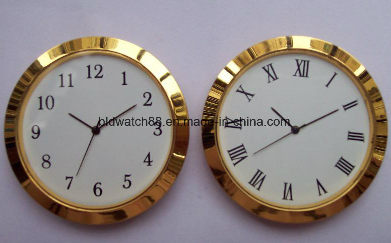Promotional Analog Quartz Small Metal Insert Clock Golden Mini Clocks