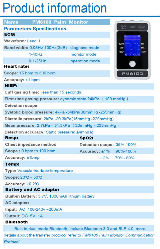 Berry Multi-Parameter Monitor Cheapest Patient Monitor with Multi-Parameter for Medical Equipment