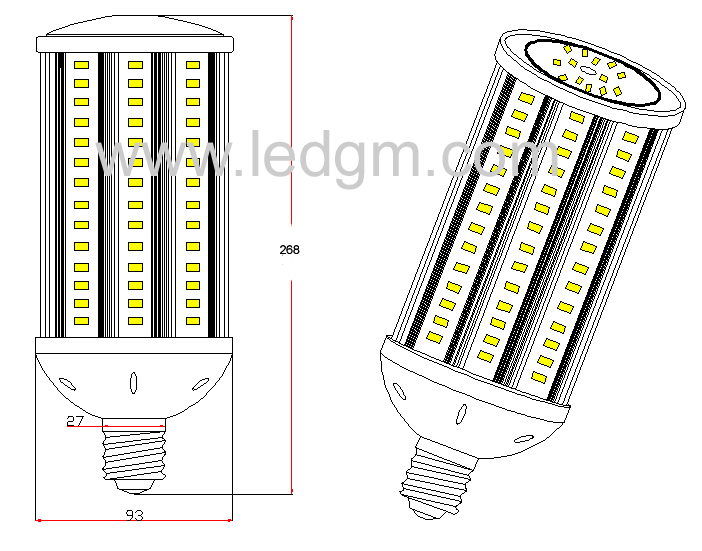 New Samsung 5630 360 Degree Garden Light 54W LED Corn Light