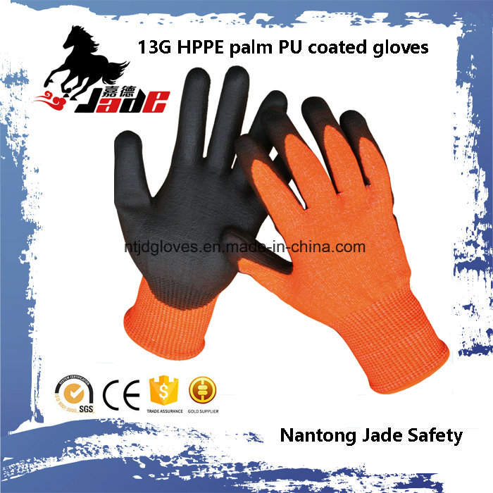 Safety Glove, 13G Hppe Safety Cut Resistant Glove Level Grade 3