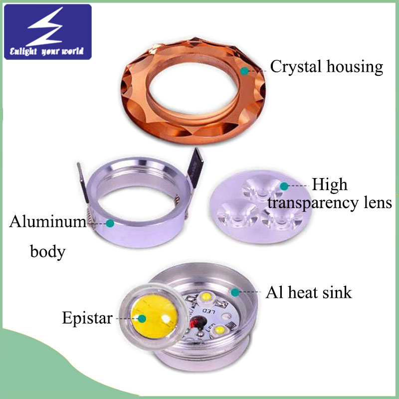 Colorful LED Crystal Ceiling Downlight