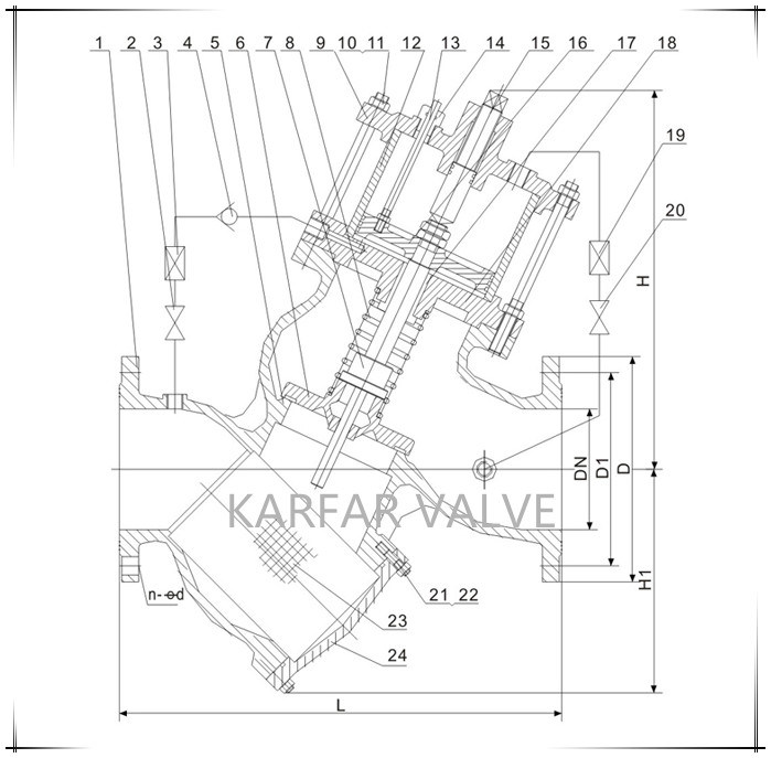 (GL98006) Buildin Strainer Piston Solenoid Control Valve