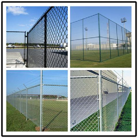 Wholesale Hot PVC Coated Galvanized Used Chain Link Fence