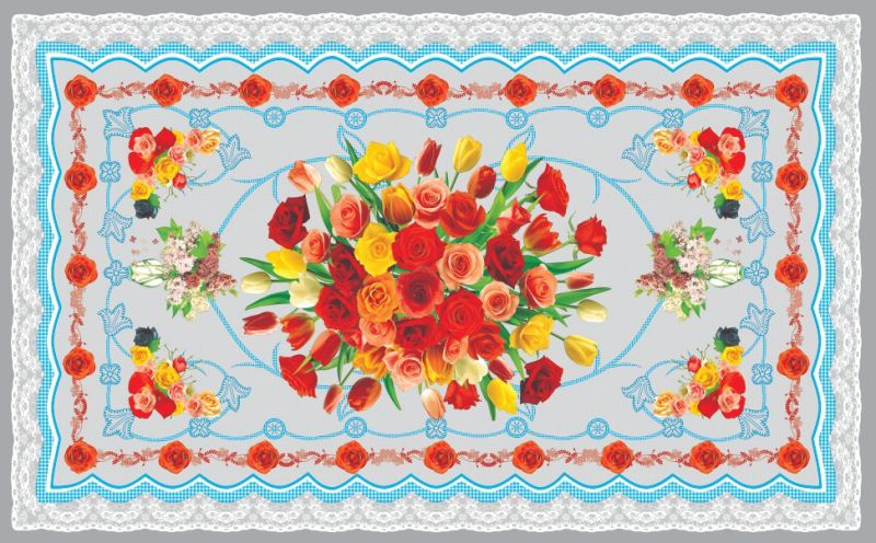 China High Quality LFGB Independent Design PVC Material Printed Transparent Tablecloth (TZ-0036) 80*130cm
