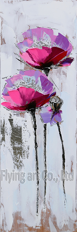 Abstract Acrylic Canvas Flower Oil Painting