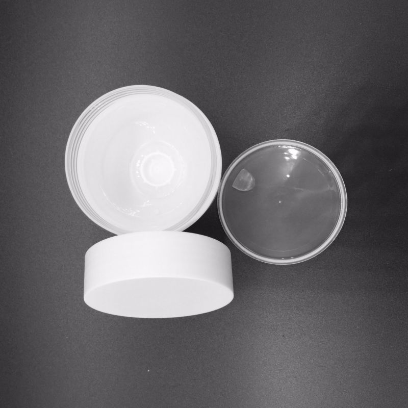 50g Whiite Double Wall Plastic PP Jar Cosmetic Packaging Jar