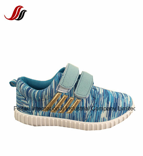 Lace up Canvas Injection Shoes, Children Casual Sports Shoes with Good Quality and Lower Prices