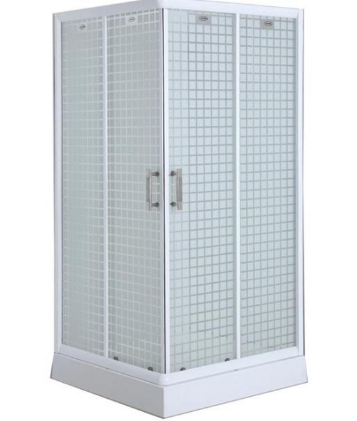 Acid Glass Simple Shower Cabins (ADL-8012E)