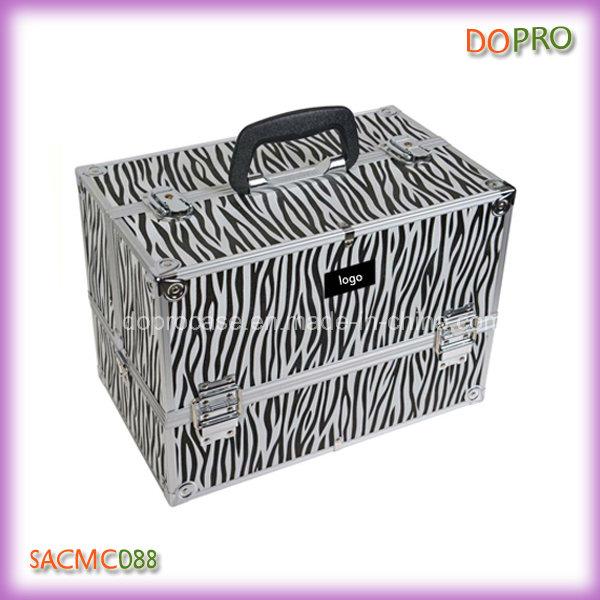Zebra Patterns Wholesale Professional Train Case Makeup Box (SACMC088)