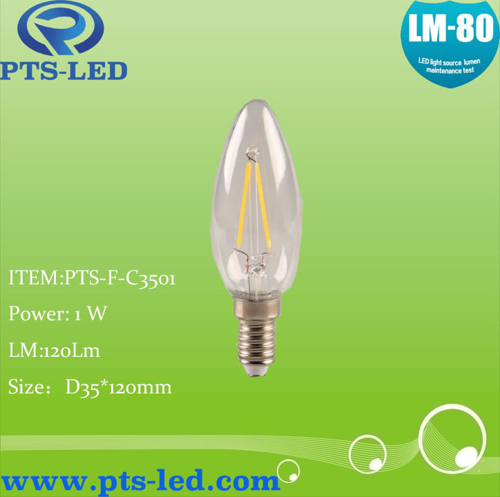 C35 1W 2W 3W 4W LED Filament Candle Lighting