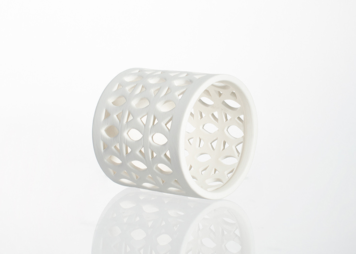 Latest White Patterned Ceramic Candle Holder