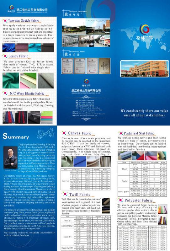 Breathable Plaid Nylon Taffeta Waterproof Fabric for Lycras Clothes (GLLML278)