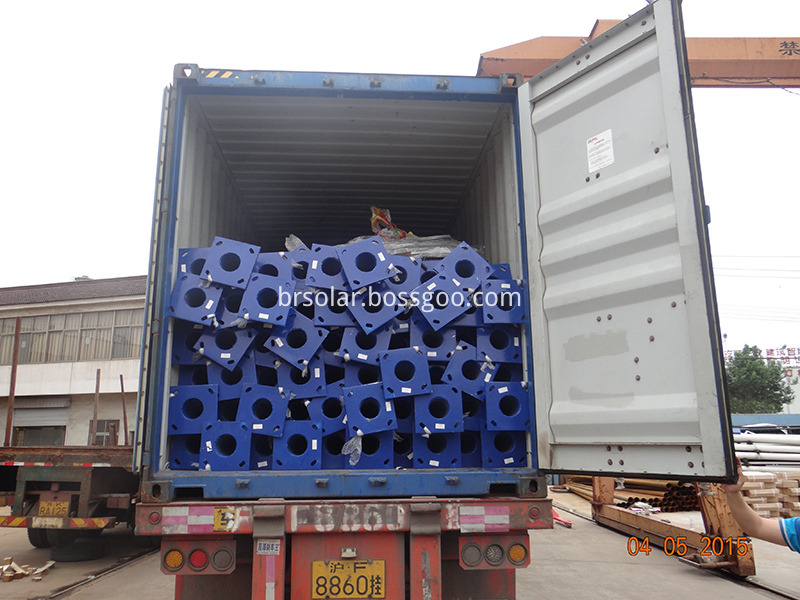 Galvanized steel pole