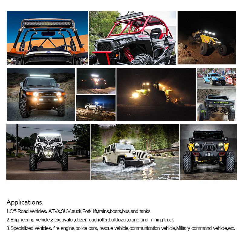 Single Row 80W 4*4 LED Light Bar for Offroad
