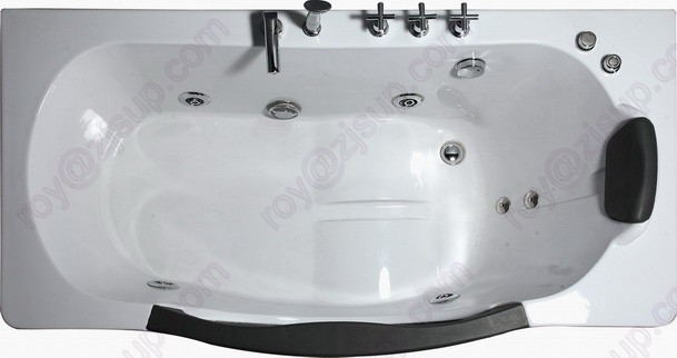 CE ISO9001 Rectangle Indoor Whirlpool Bathtub with Glass (CL-320)