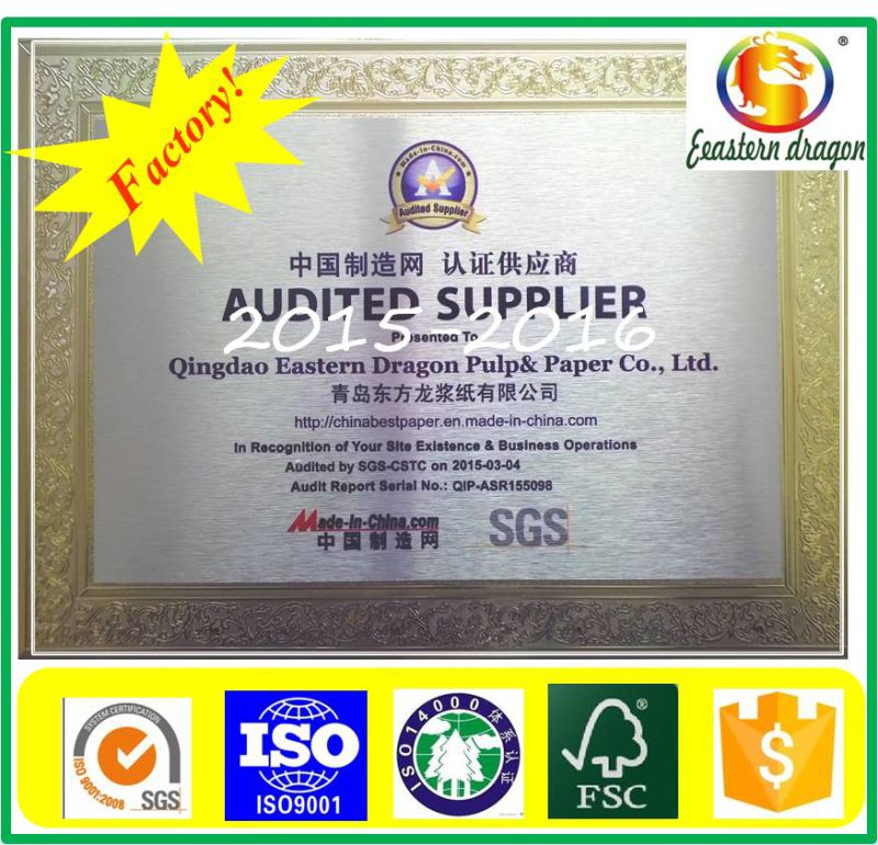 Factory Price 300g Duplex Board Paper Grey Back