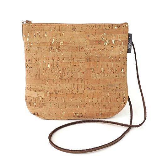 Mini Cross-Body Bag in Gold Flecked Cork