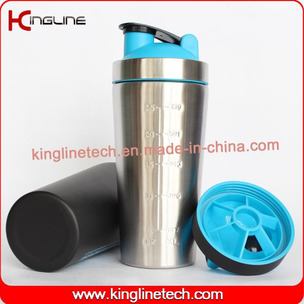 750ml New Stainless Steel Protein Shaker (KL-7068)