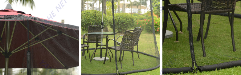 Patio Umbrella Mosquito Netting for Awnings
