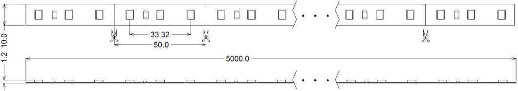 Low Voltage LED Stripe 12W 2835 60 LED