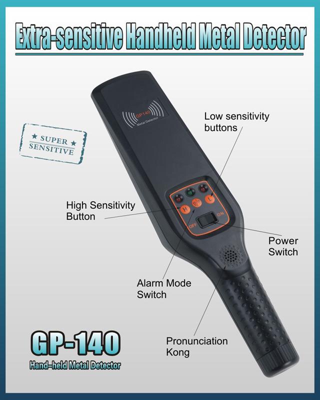 High Sensitivity Portable Hand Held Metal Detector for School Bank