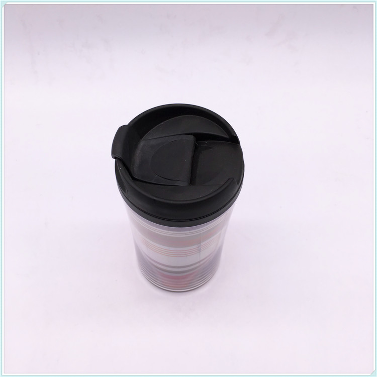 250ml Plastic Coffee Mug with Lid, Plastic Mug (SH-PM17)