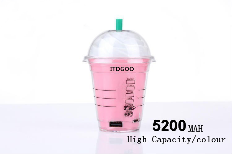Creative 5200mAh Coffee Cup Power Bank Portable Back up Battery Mobile Charger