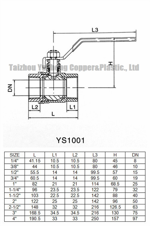 Brass Ball Valve Iron Handle (YS1001)