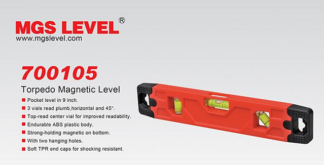 Topedo Spirit Level with Magnets (700105)