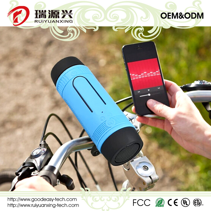 Waterproof Bicycle Wireless Bluetooth speaker with power bank and LED light