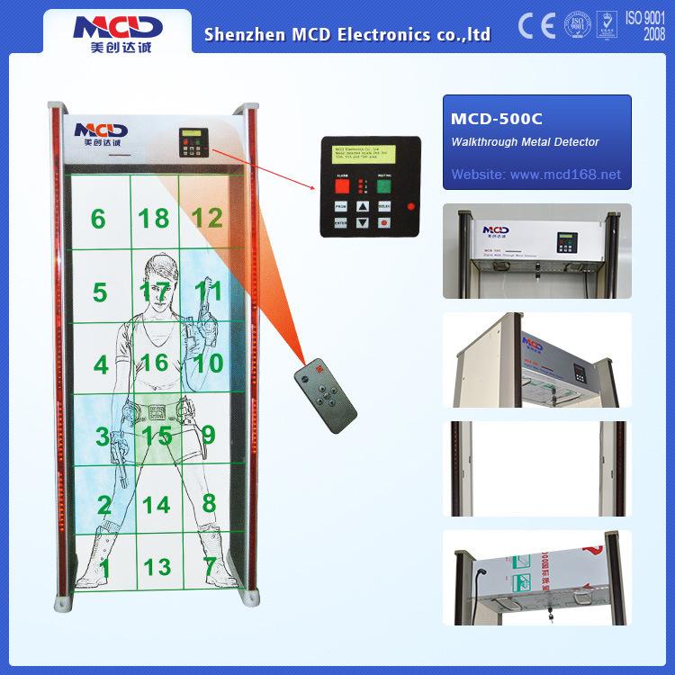 18 Zones Walkthough Metal Detector for Airport Mcd-500c