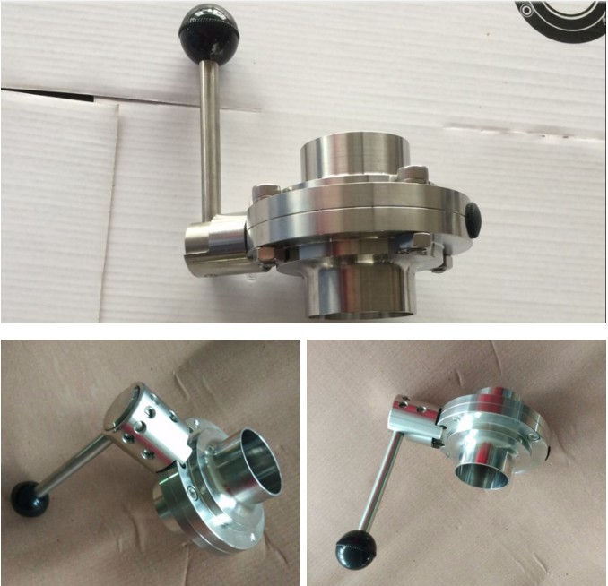 Wenzhou Stainless Steel Handle Sanitary Butterfly Valve Manufacturer