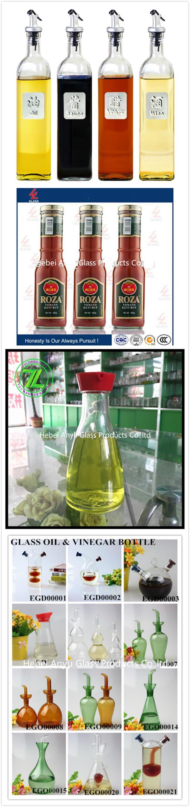 Olive Oil & Vinegar Sprayer Glass Bottle with Adjustable Flow Control for Kitchenware Cooking