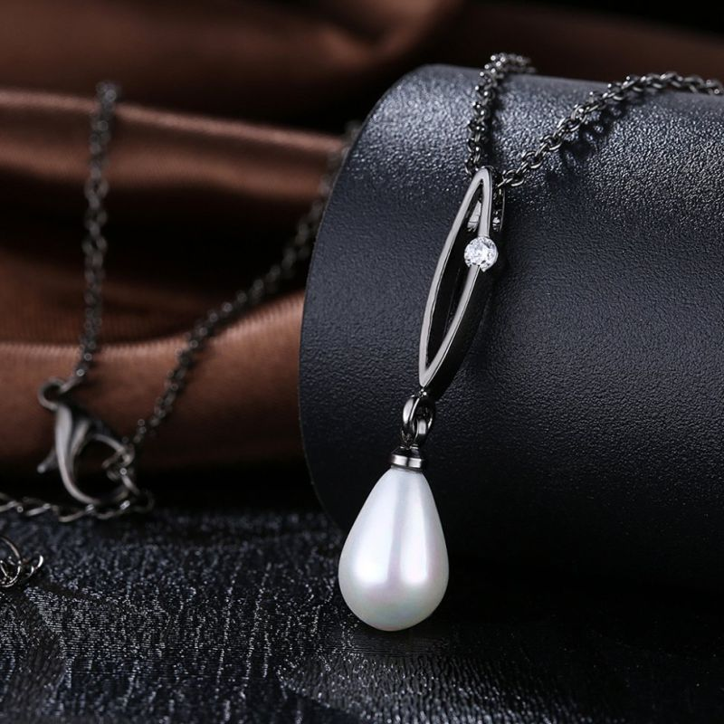 Zircon and Pearl Necklace Hotsale New Design Pearl Necklace