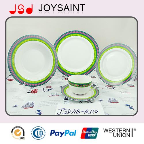 Wholesale Porcelain Decal Dinner Set Promotion for Hotel