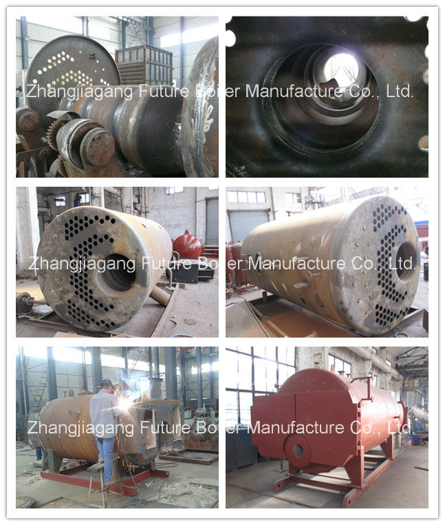Horizontal 500kg/H Diesel Fired Steam Boiler for Curing Chamber