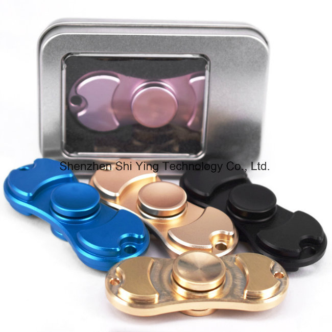 Tri Hand Spinner Toy Copper Fidget with Ceramic Ball Bearing