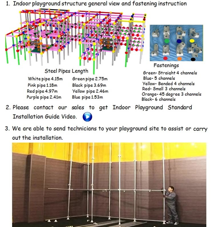 Ocean Theme Commercial Indoor Playground Equipment Witht Ball Pool