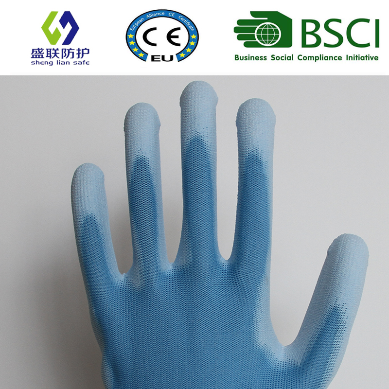 PU Coated Work Safety Glove (SL-PU201B2)