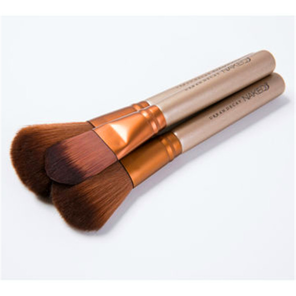 12PCS Gold Professional Naked3 Makeup Brush Kit with Wholesale Price