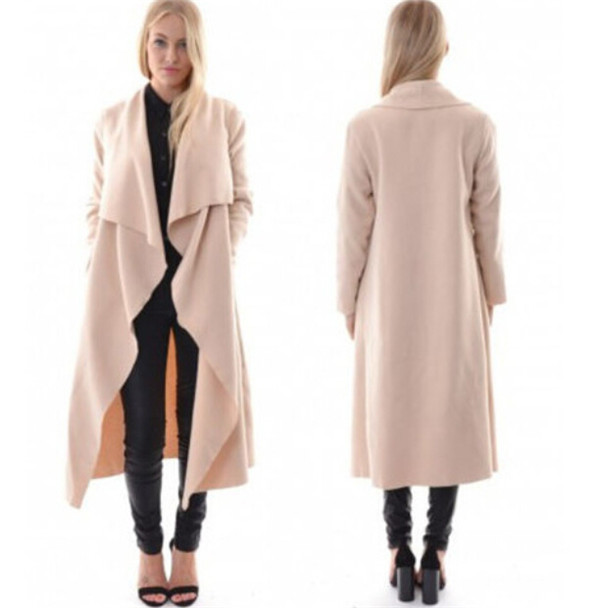 European New Brand Windbreaker Jacket Long Women Cardigan