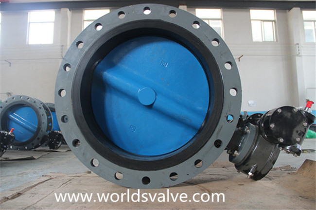 Double Flanged Butterfly Valve with Painting Disc (D41X-10/16)