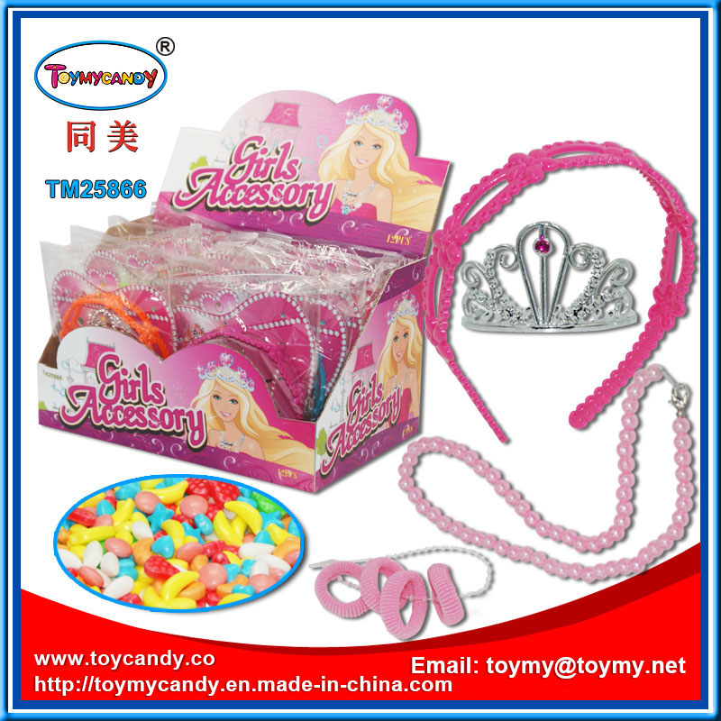 Plastic Girls Accessory Gift Toy with Candy