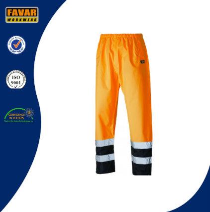 Hi Vis Fluorescent Orange/Yellow Waterproof Trousers Workwear