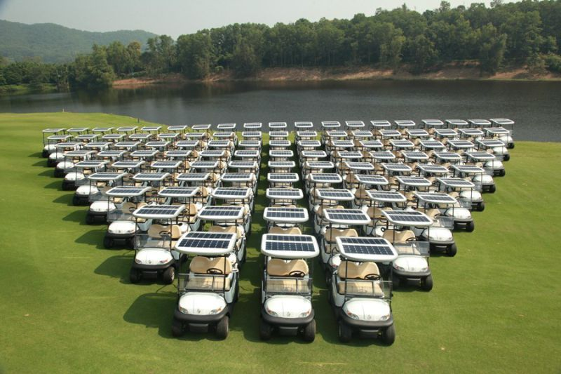 China Solar Power 4 Seater Electric Golf Cart