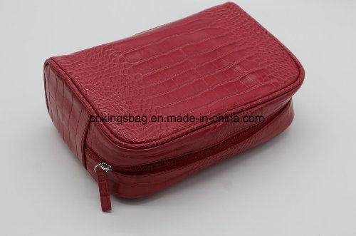 Imitation Leather PU Crocodile Pattern Travel Cosmetic Bag, Makeup Bag