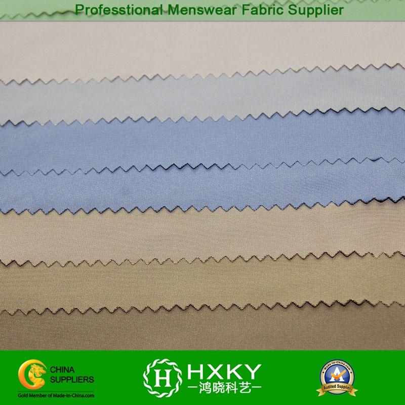 Fil-a-Fil Semi Memory Polyester Fabric for Men's Overcoat