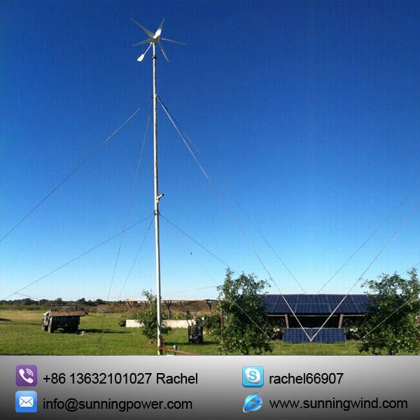 400W Wind Solar Hybrid System Use Small Wind Turbine Generator