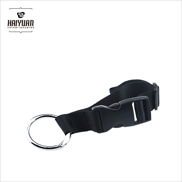 Custom Cheap Short Key Chain Lanyards with Carabiner Hook
