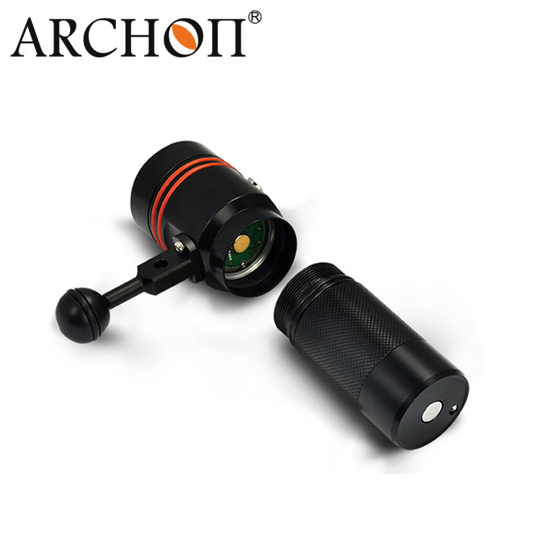 100m Waterproof Alminum LED Diving Flashlight 2600lumen Video Light W40V